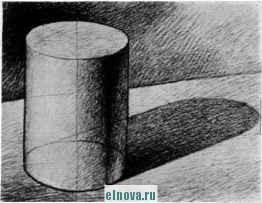 Рисуем цилиндр в тенях