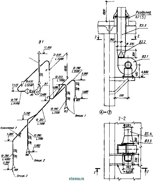 схема вытяжной вентиляции